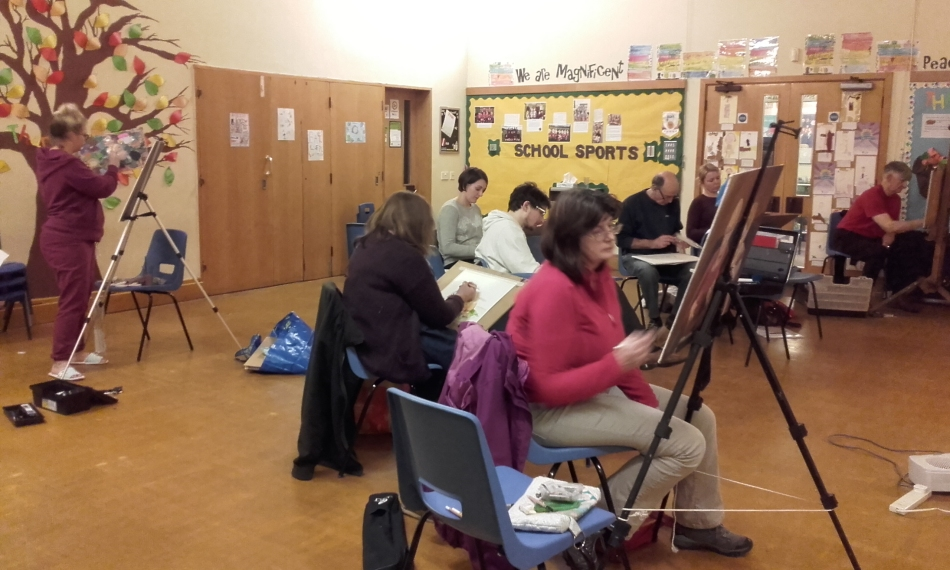 Life Drawing at St Leonards School, Weds eve. 8.3.2017